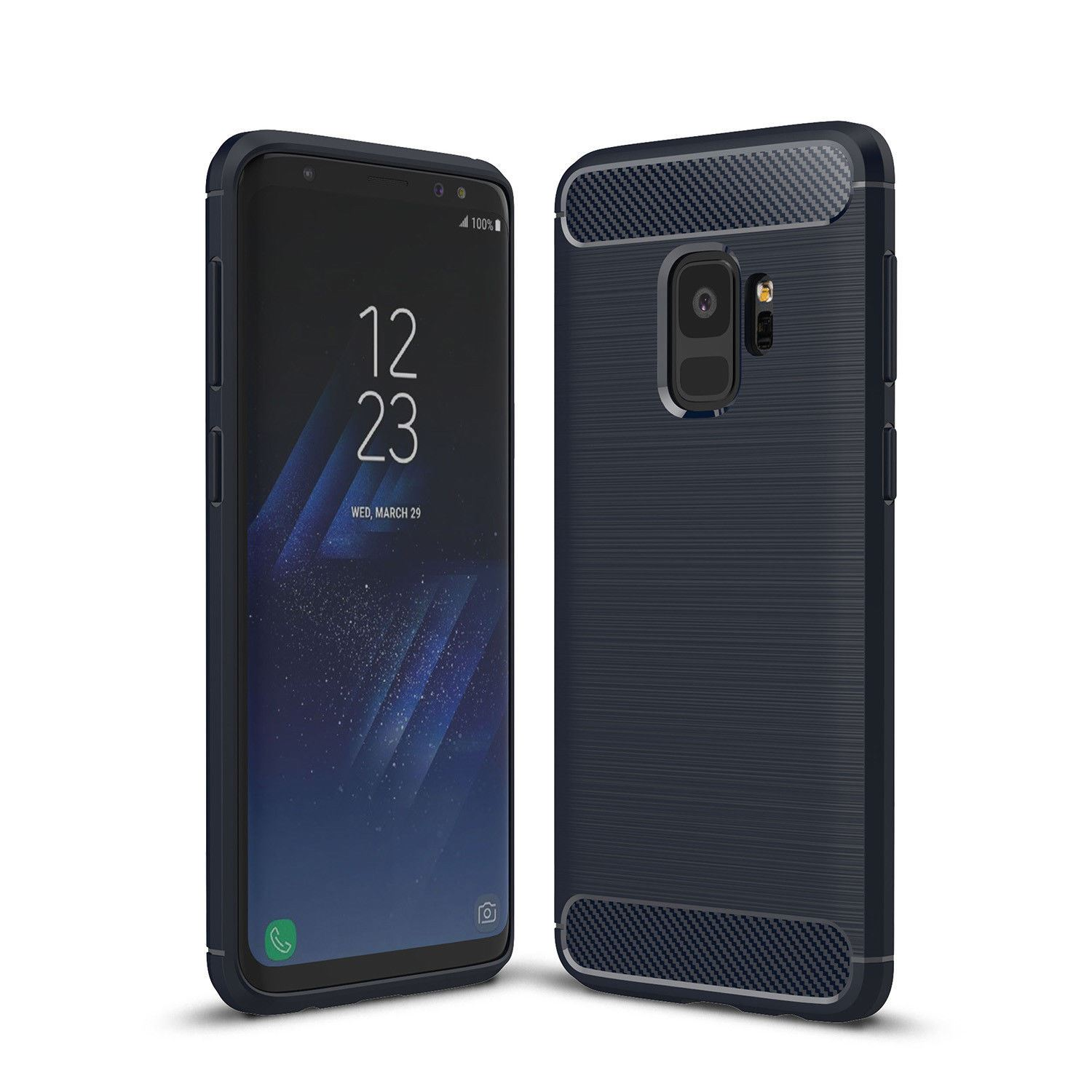 Antichoc-Luxury-TPU-Rugged-en-carbone-CASE-COVER-FOR-SAMSUNG-GALAXY-s9-amp-s9-plus miniature 33