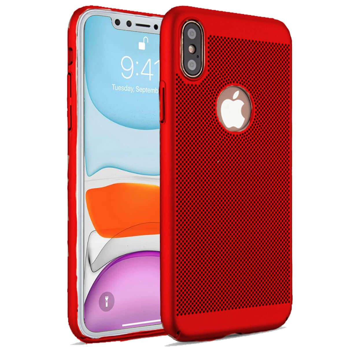 Ultra-Thin-Case-Apple-iPhone-10-X-8-7-6s-5s-Luxury-Slim-PC-Mesh-Hard-Back-Cover thumbnail 15
