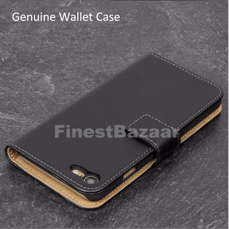 Genuine-Leather-Magnetic-Flip-Wallet-Case-Cover-For-Apple-iPhone-8-7-Plus-6S-5S thumbnail 36
