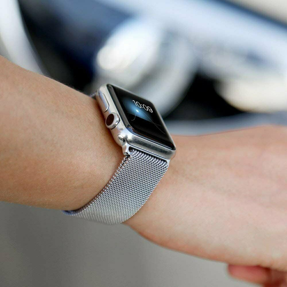Band-For-Apple-Watch-Milannese-Loop-Stainless-Steel-Strap thumbnail 44