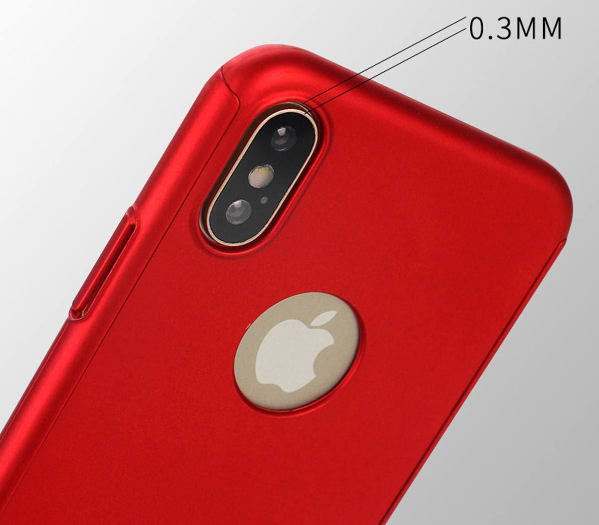 For-Apple-iPhone-XS-Max-XR-Hybrid-360-Slim-Ultra-Thin-Heavy-Duty-Shockproof-Case Indexbild 39