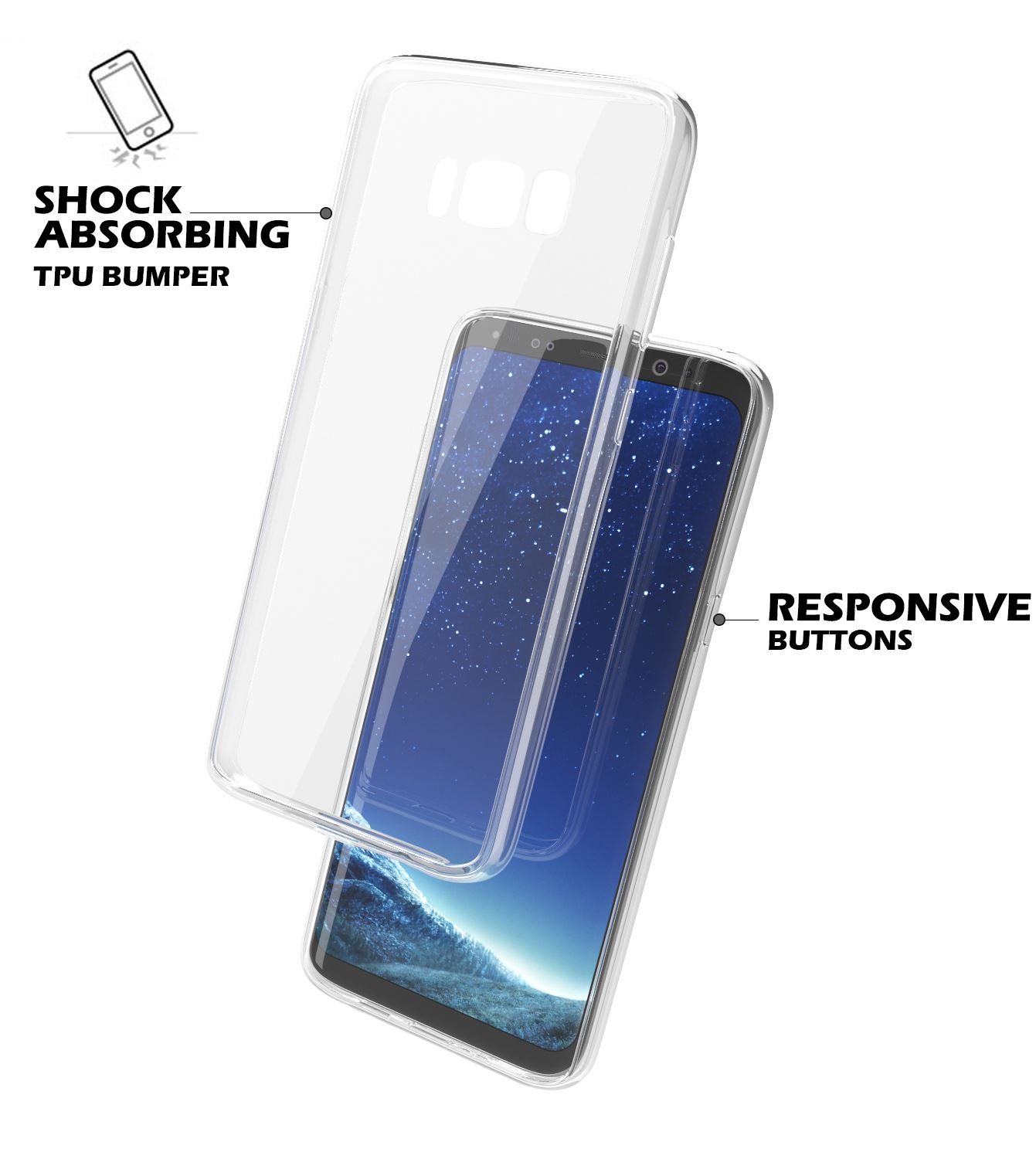 Samsung-Galaxy-S8-S9-Note-8-Shockproof-TPU-Bumper-Gel-Crystal-Clear-Case-Cover 縮圖 9