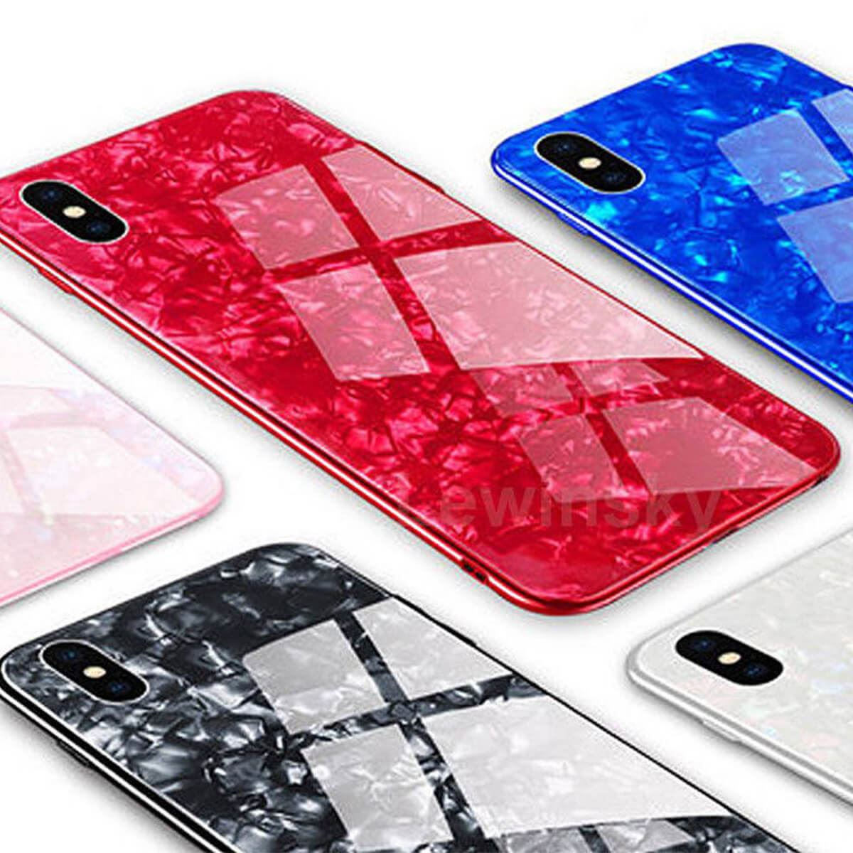 Marble-Tempered-Glass-Case-For-Apple-iPhone-X-XS-XR-Max-10-8-7-6s-6-Luxury-Cover thumbnail 3