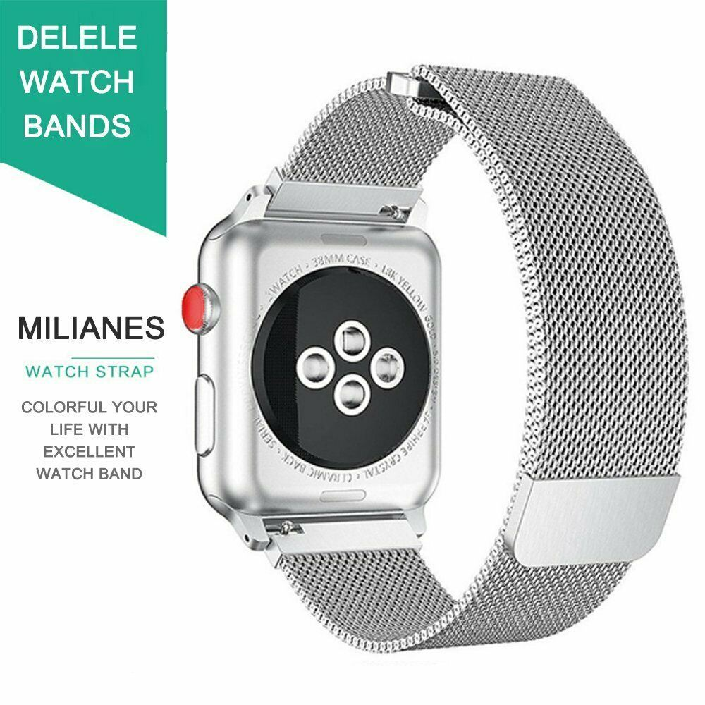 Band-For-Apple-Watch-Milannese-Loop-Stainless-Steel-Strap thumbnail 59