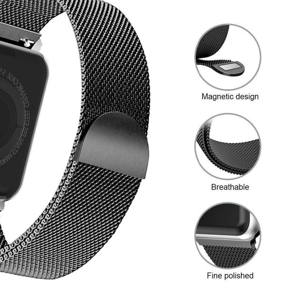 Band-For-Apple-Watch-Milannese-Loop-Stainless-Steel-Strap thumbnail 55