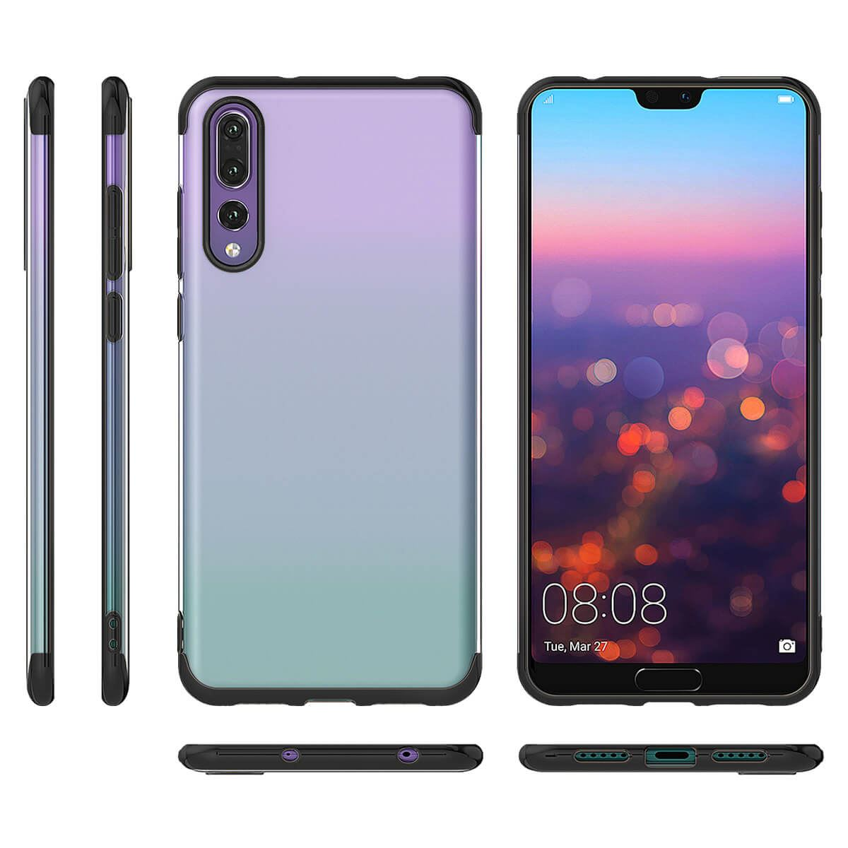 Case-For-Huawei-P20-Pro-P-Smart-Stylish-Hybrid-Shockproof-Plating-Silicone-Cover thumbnail 7