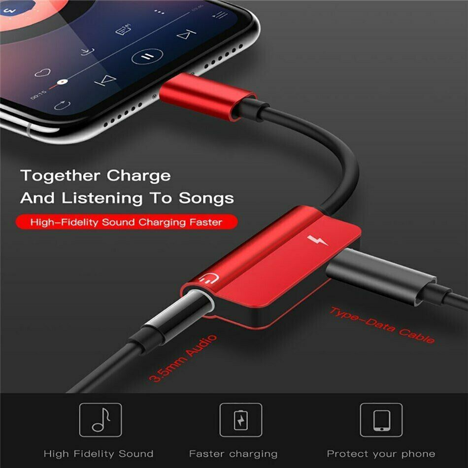 3.5mm Headphone Jack AUX Splitter Adapter For iPhone 11 XS ...