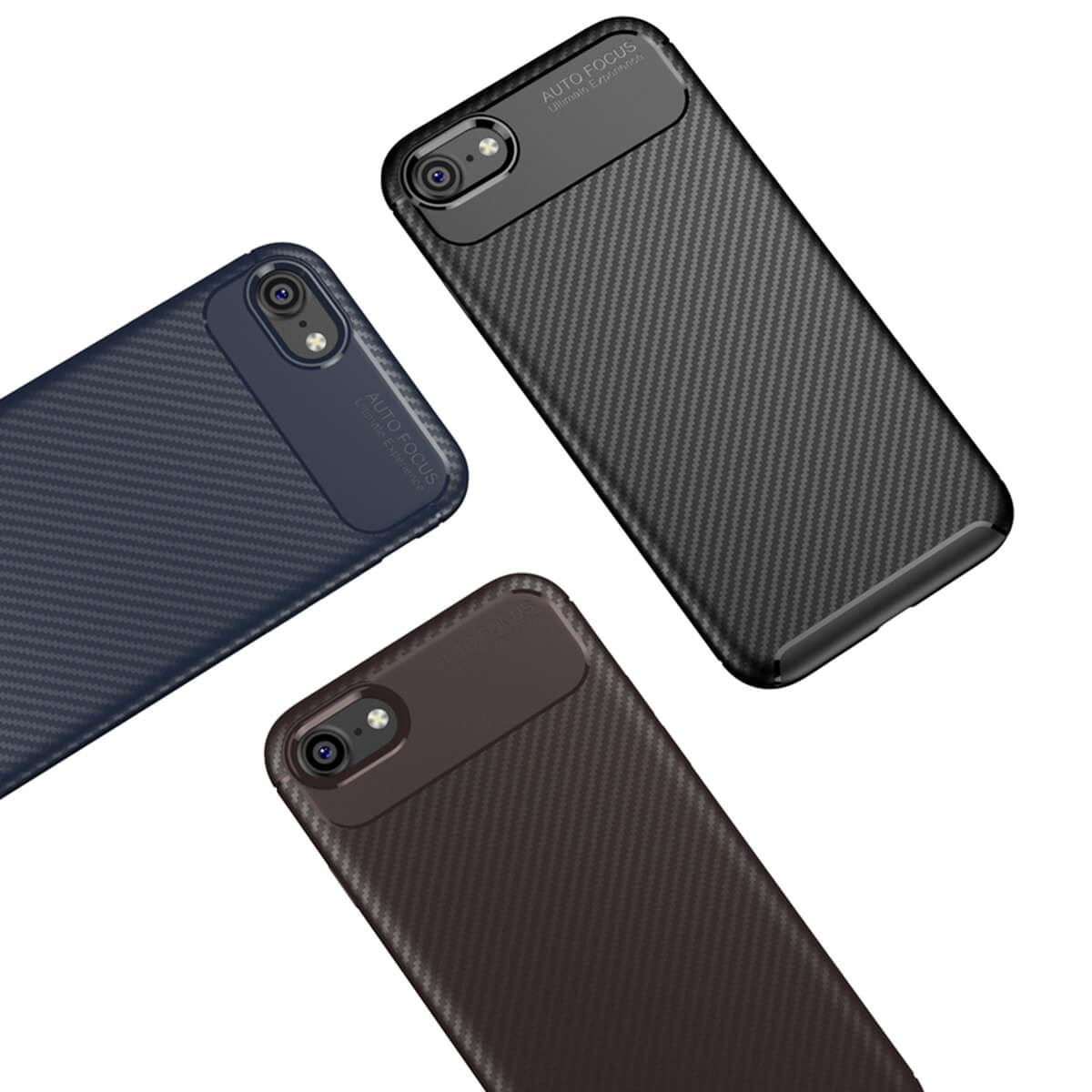 Carbon-Fibre-Soft-Case-For-iPhone-11-X-XR-Max-8-7-6-Plus-Slim-TPU-Silicone-Cover thumbnail 6