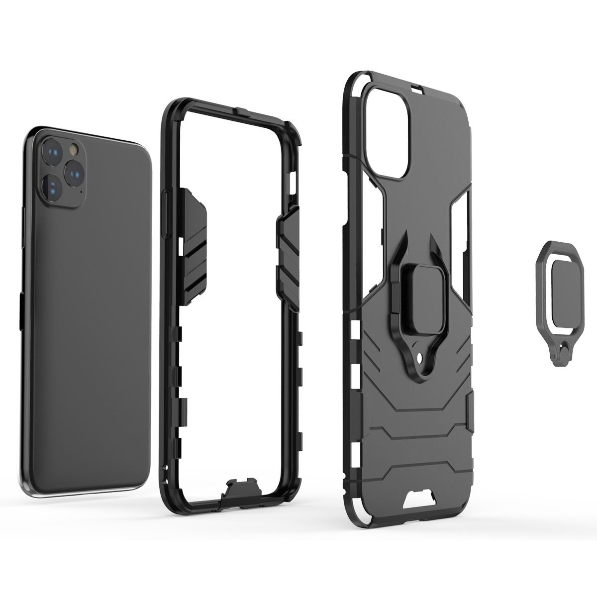 Hybrid-Pc-Case-Cover-For-Apple-iPhone-11-Pro-Max-X-6-7-8-Se-With-Ring-Holder thumbnail 6