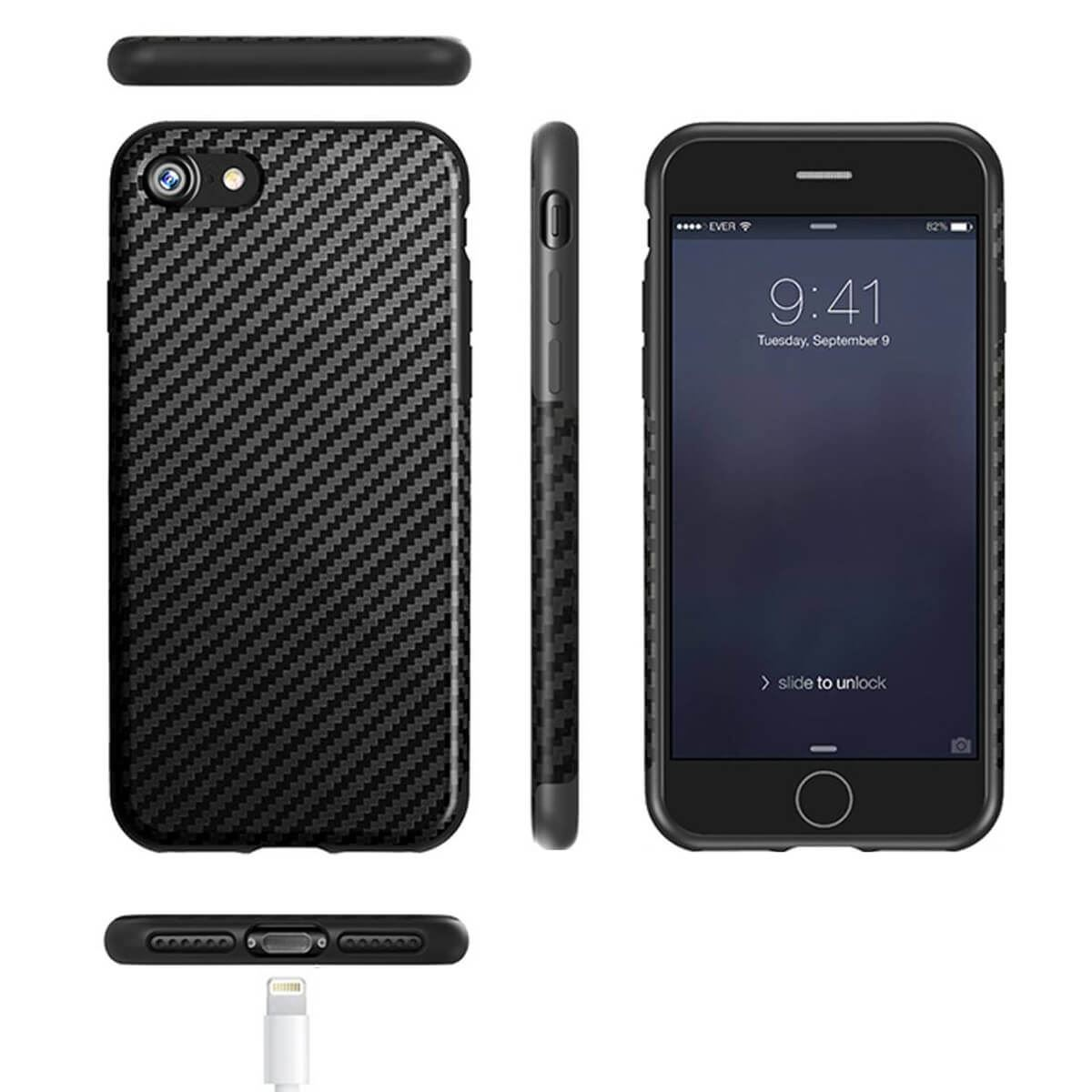 thumbnail 3 - Shockproof Carbon Fibre Case For Apple iPhone 10 X 8 Plus 7 6s Se 5 Thin Cover