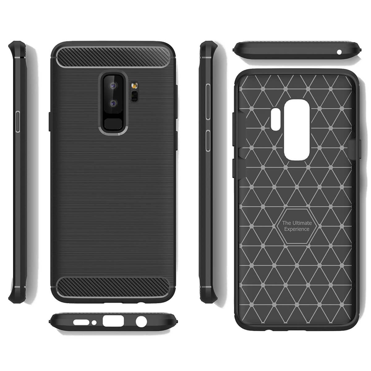 ShockProof-Rugged-Carbon-Case-For-Samsung-Galaxy-S9-amp-S9-Plus-Luxury-TPU-Cover thumbnail 3
