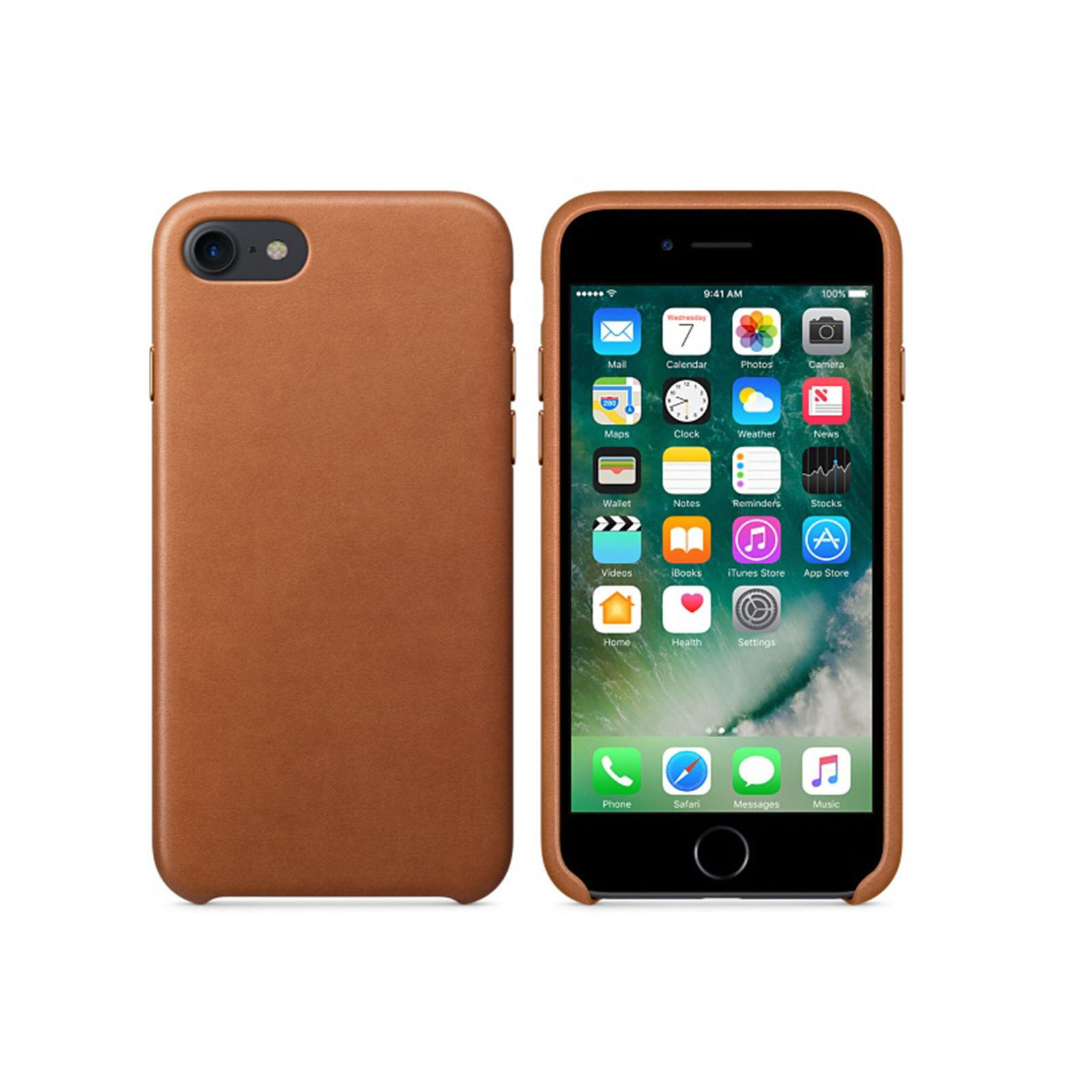 Original-PU-Soft-Silicone-Leather-Slim-Case-Cover-Apple-iPhone-10-8-7-Plus-6s-5 miniatuur 47