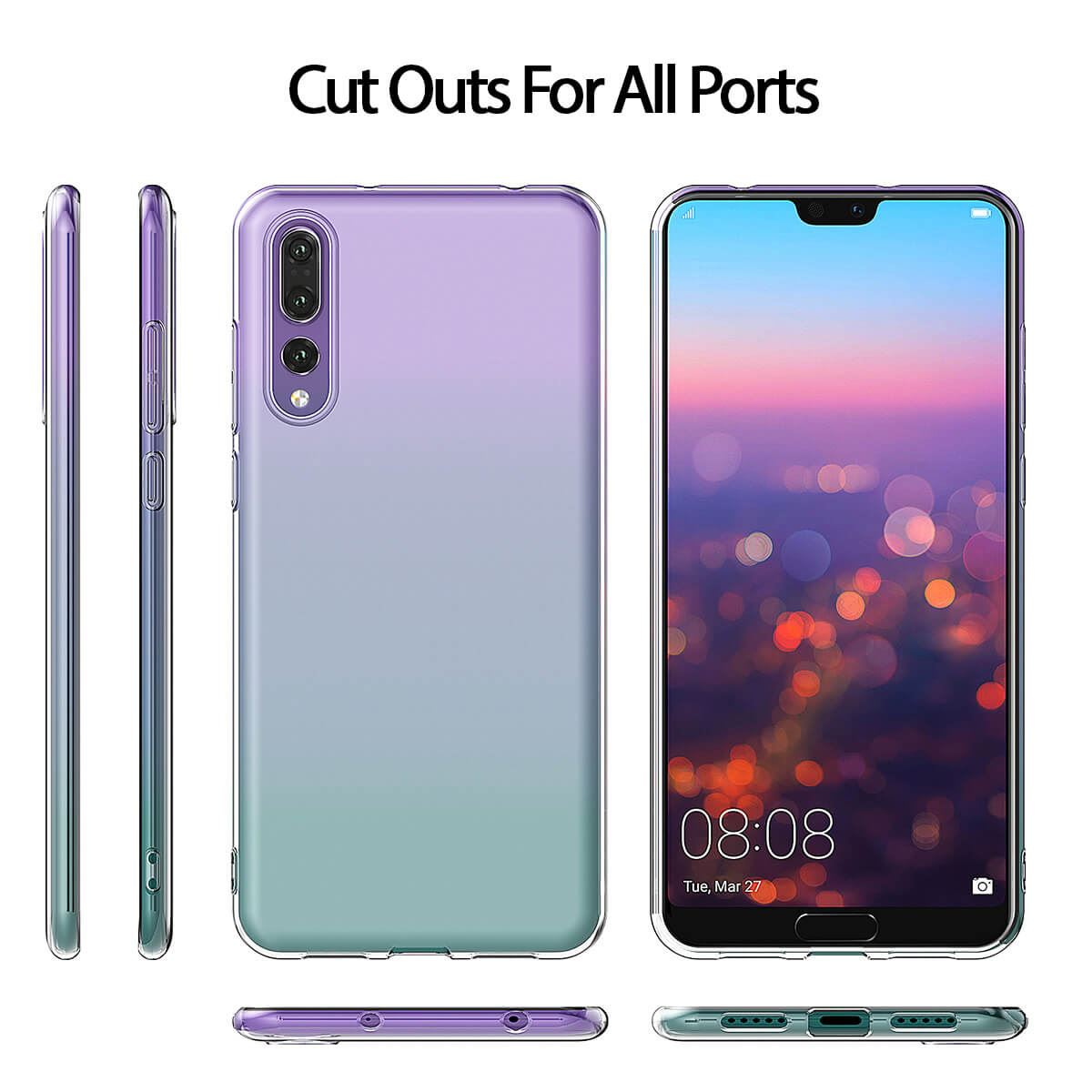 Shockproof-Silicone-Protective-Clear-Gel-Cover-Case-For-Huawei-P20-Pro-P-Smart thumbnail 45
