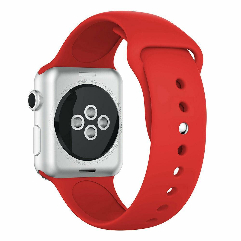 Strap-For-Apple-Watch-Silicone-Comfortable-Durable-Waterproof-Band thumbnail 32