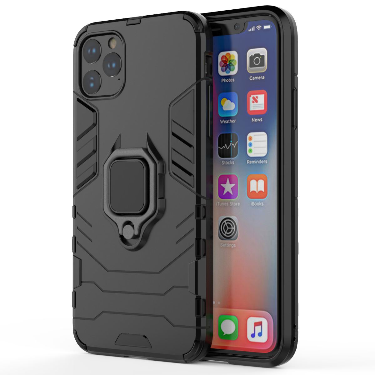 Hybrid-Pc-Case-Cover-For-Apple-iPhone-11-Pro-Max-X-6-7-8-Se-With-Ring-Holder thumbnail 8