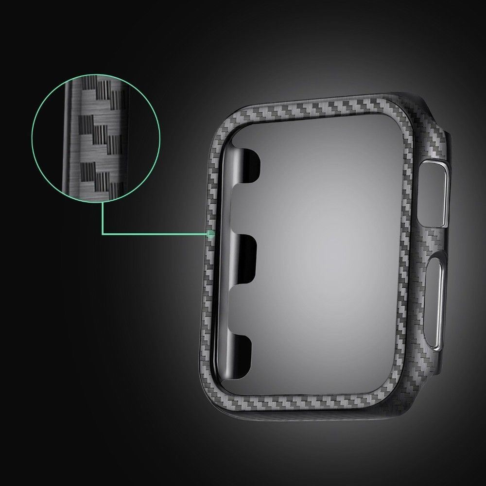 Protective-Carbon-Case-For-Apple-Watch-Black thumbnail 4