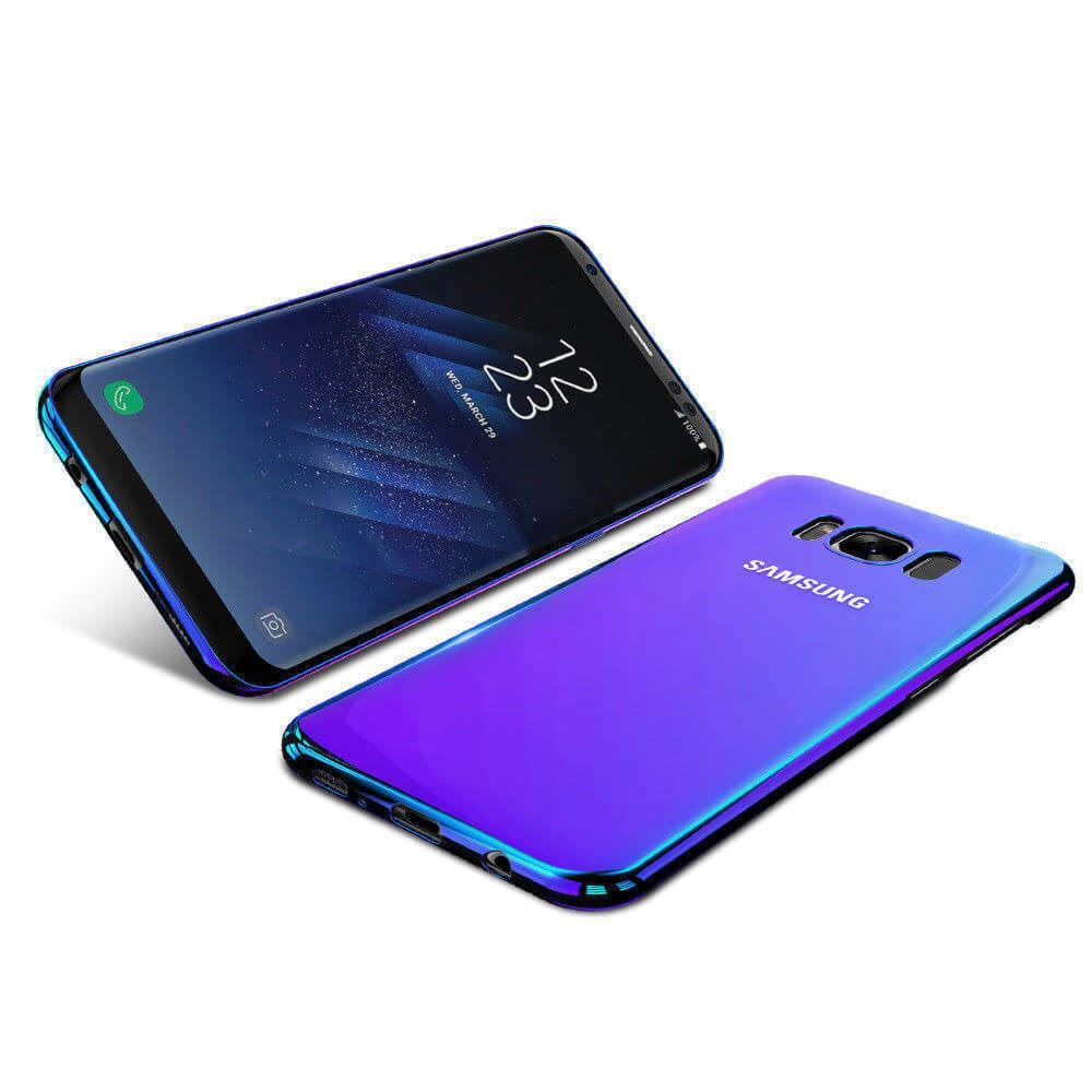 Blu-Ray-Gradient-Colour-Mirror-Hard-Back-Case-Cover-For-Samsung-Galaxy-S7-S8-S9 Indexbild 14