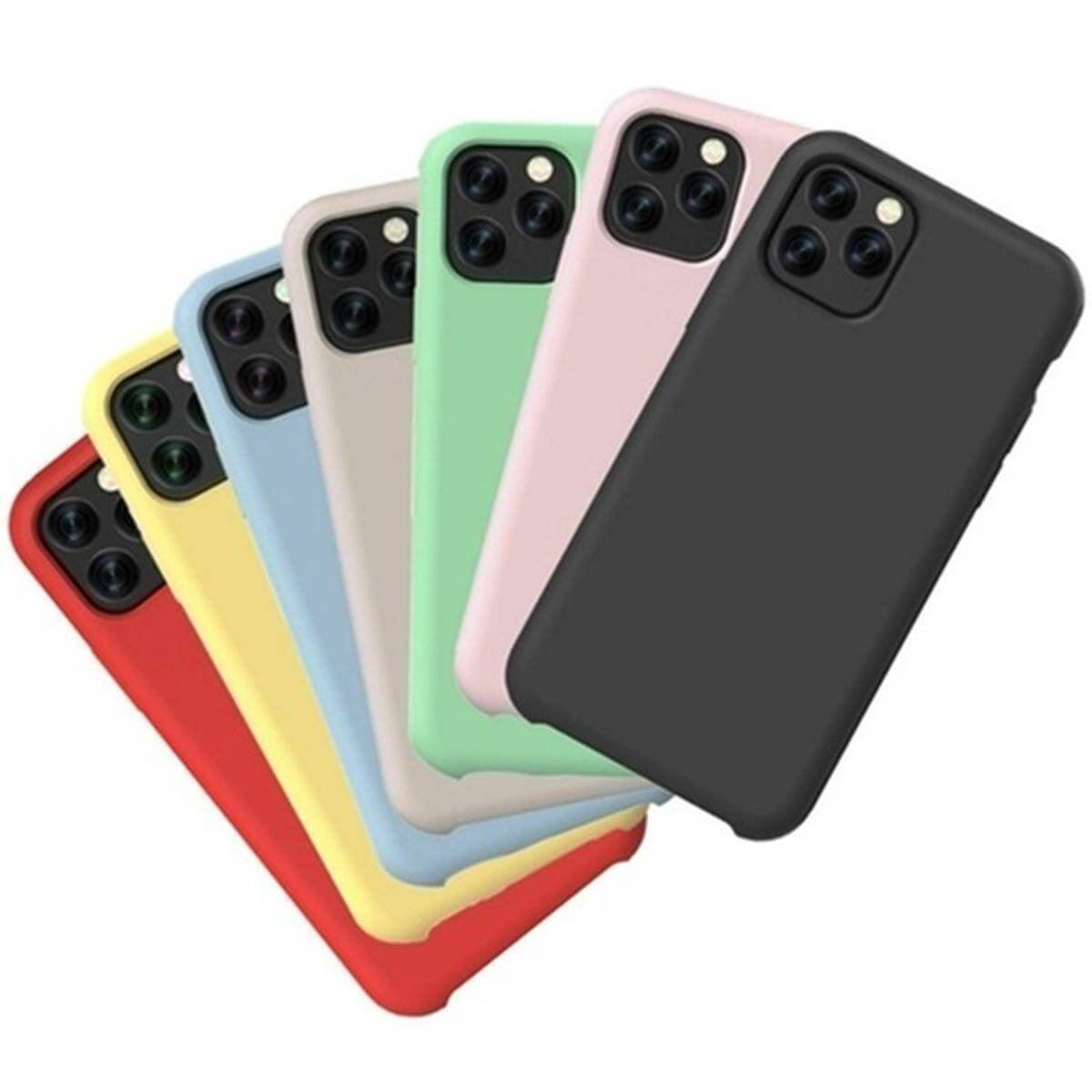 Liquid-Silicone-Shockproof-Case-For-Apple-iPhone-Soft-Matte-Back-Phone-Cover thumbnail 29