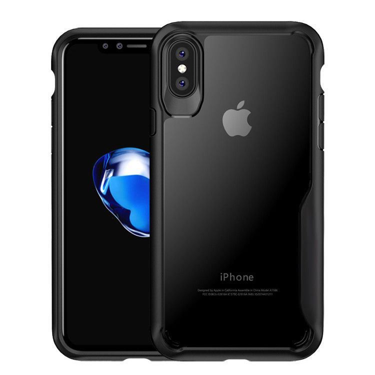 Shockproof-Clear-Thin-Hard-Bumper-TPU-Case-Cover-For-Apple-iPhone-X-8-7-Plus-6s miniatuur 30