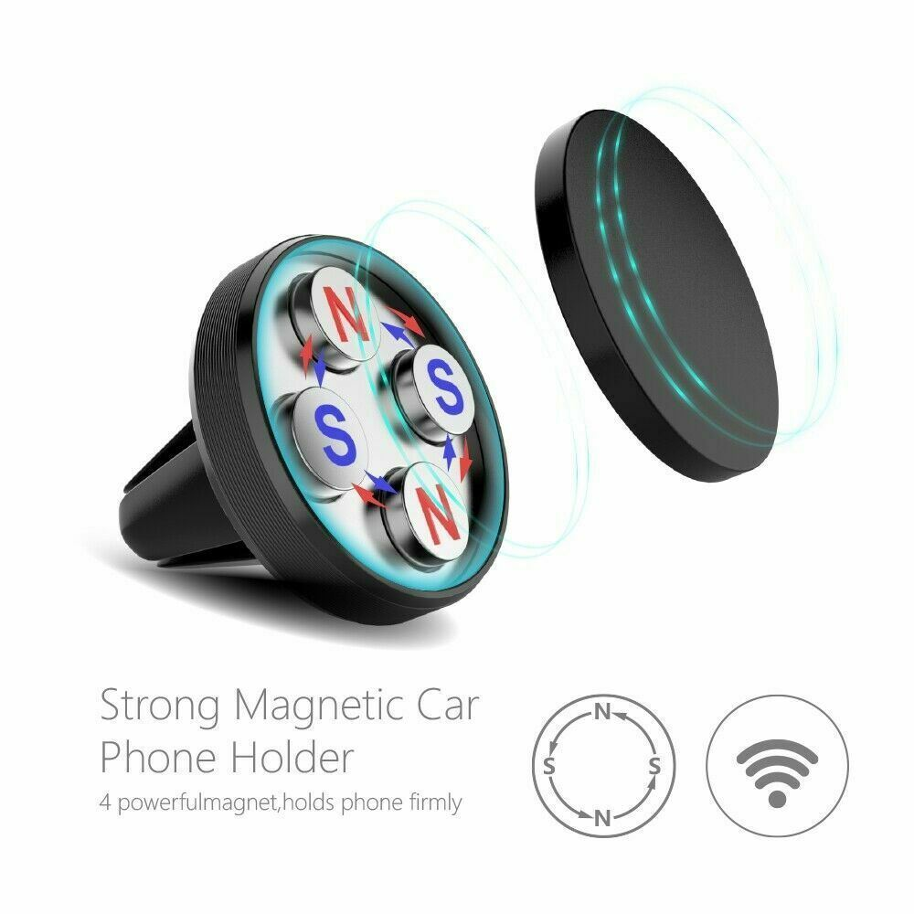 Car-Vent-Phone-Holder-Magnetic-amp-360-Rotating thumbnail 7
