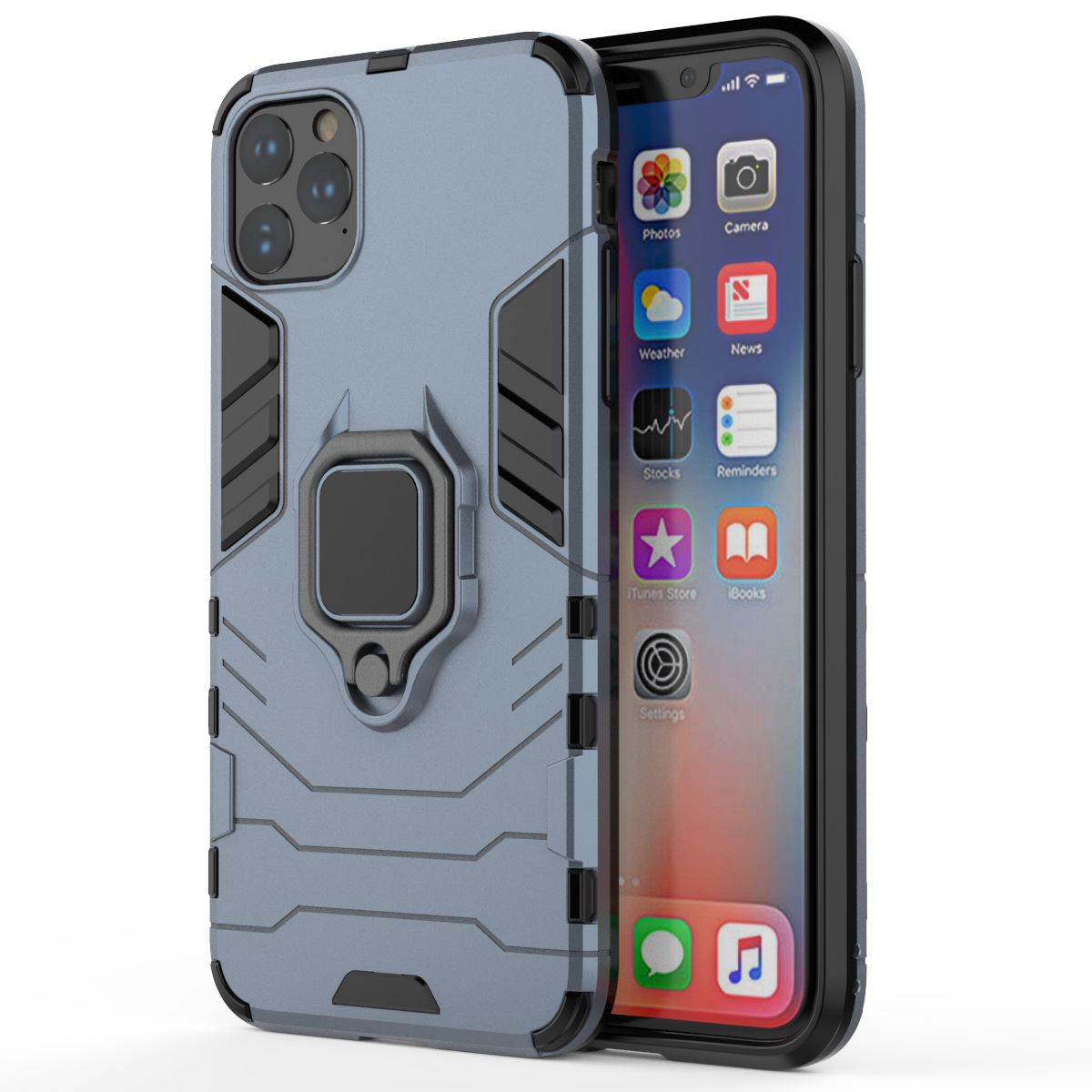 Hybrid-Pc-Case-Cover-For-Apple-iPhone-11-Pro-Max-X-6-7-8-Se-With-Ring-Holder thumbnail 11