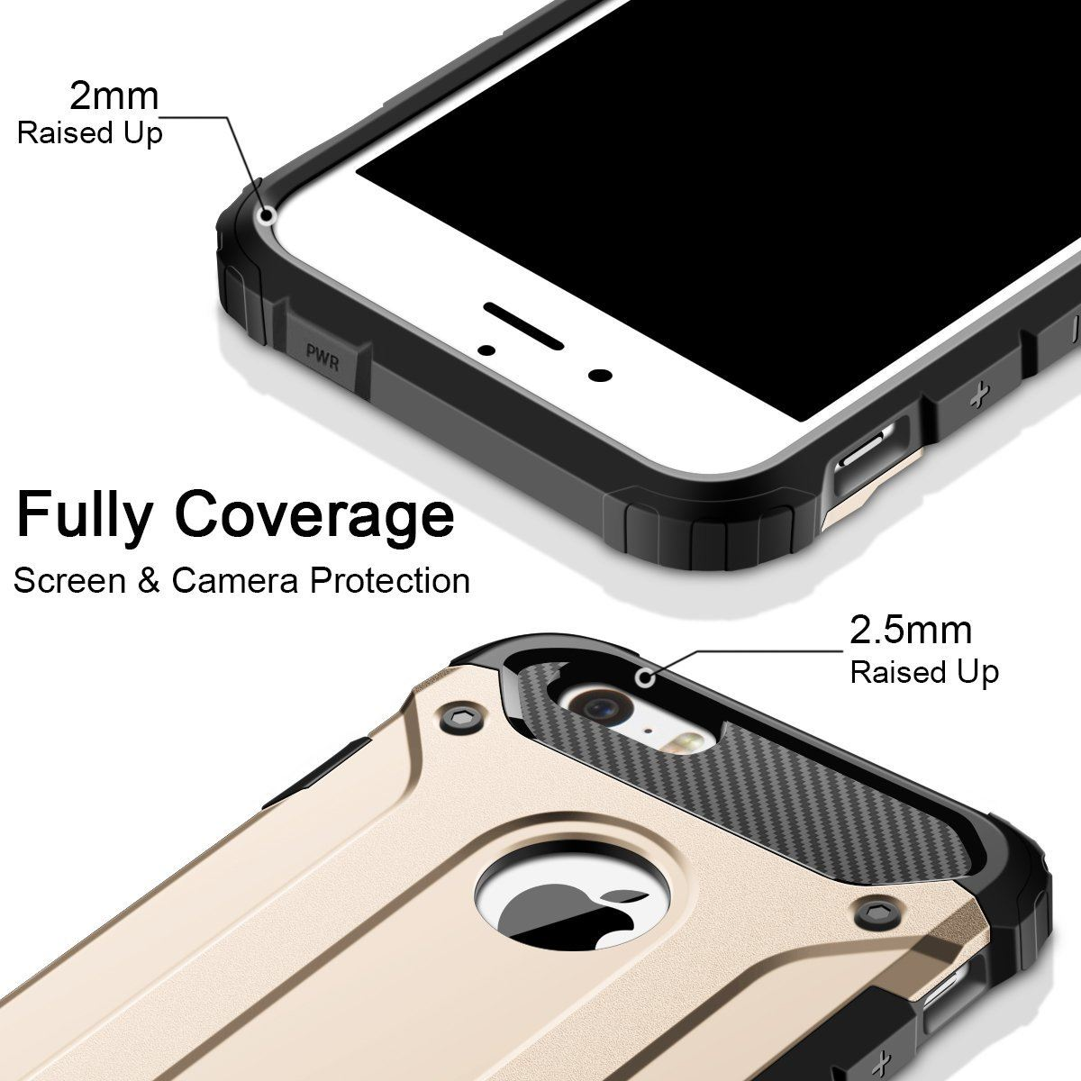 Hybrid-Armor-Shockproof-Rugged-Bumper-Case-For-Apple-iPhone-10-X-8-7-Plus-6s-5s miniature 52