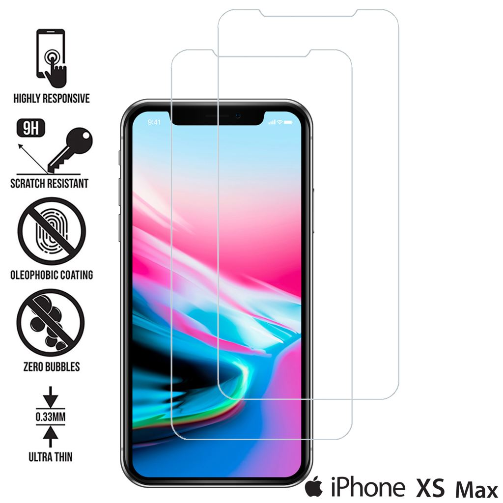 TEMPERED-GLASS-FILM-SCREEN-PROTECTOR-FOR-NEW-iPhone-XR-XS-MAX-8-7-6s-5s-2018-2PK thumbnail 47