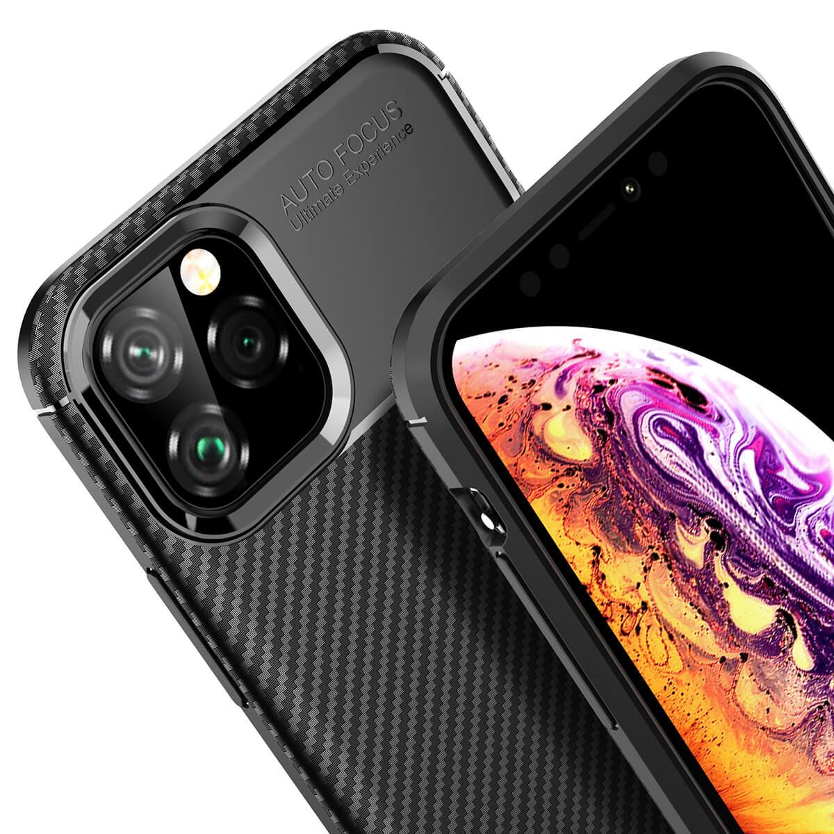 Carbon-Fibre-Soft-Case-For-iPhone-11-X-XR-Max-8-7-6-Plus-Slim-TPU-Silicone-Cover thumbnail 8