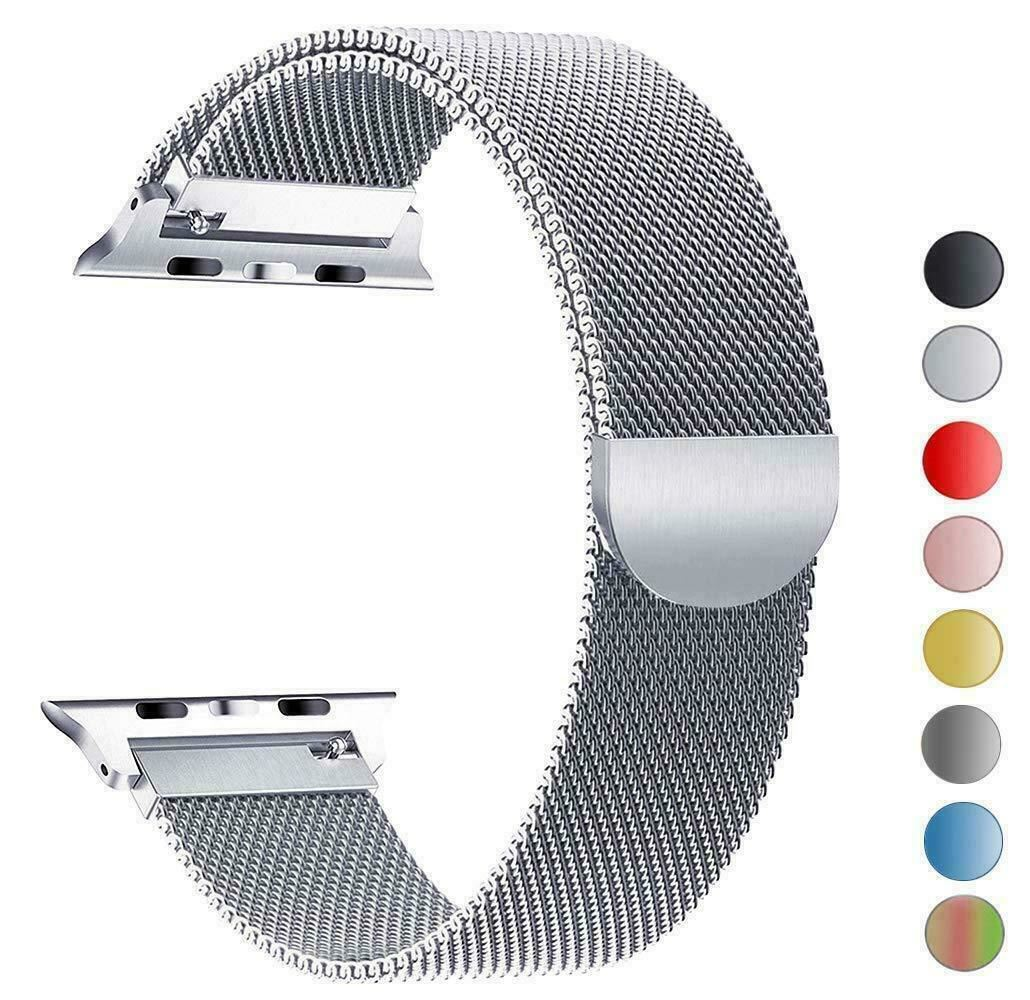 Band-For-Apple-Watch-Milannese-Loop-Stainless-Steel-Strap thumbnail 51