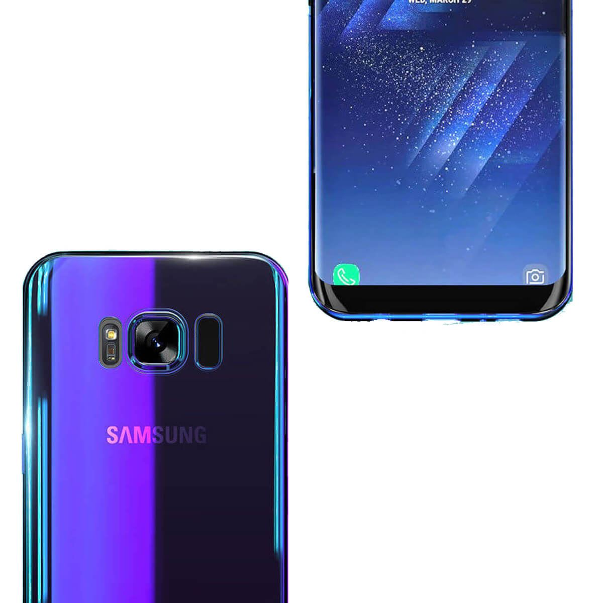 Mirror-Hard-Back-Case-For-Samsung-Galaxy-S7-S8-Blu-Ray-Gradient-Colour-Cover thumbnail 4