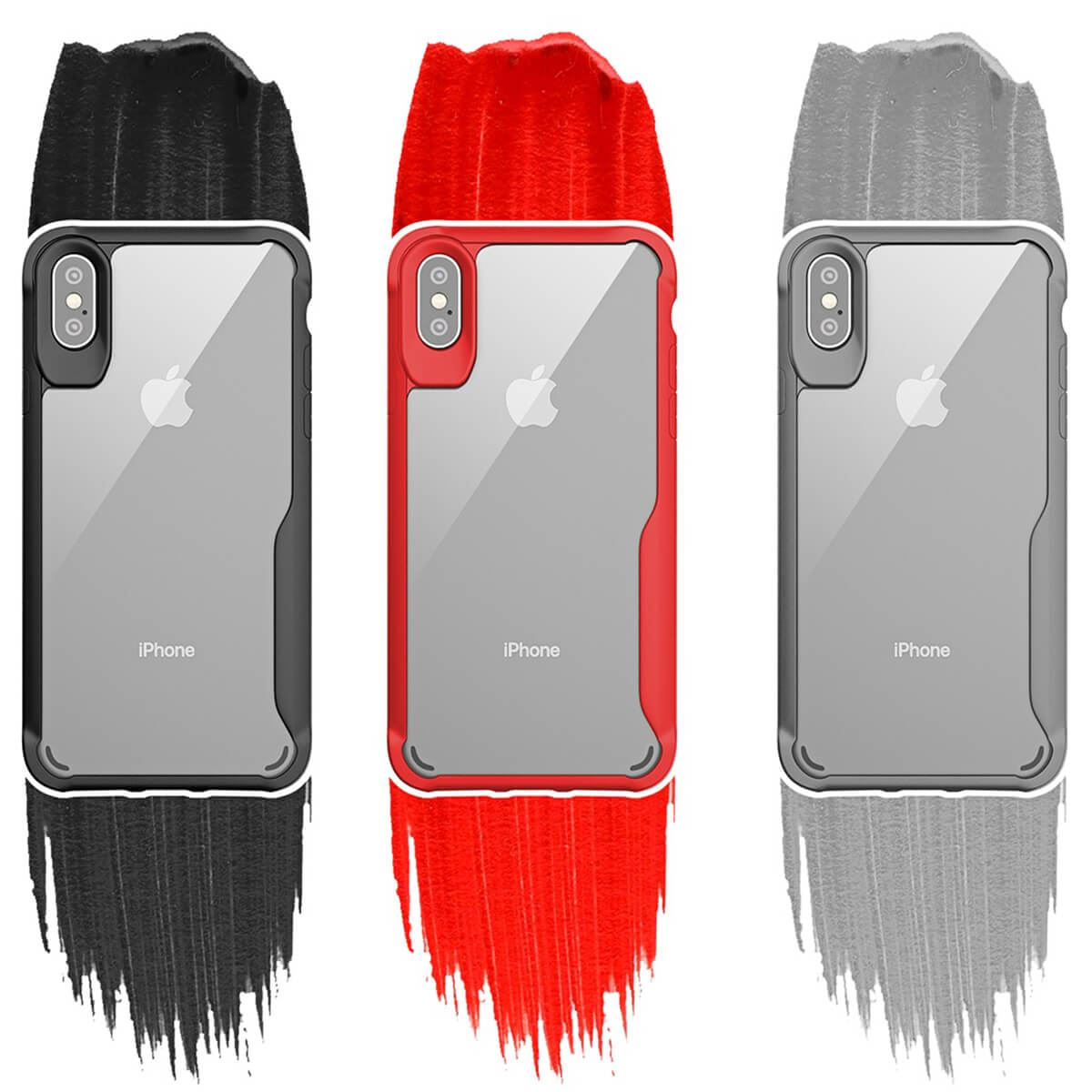 Thin-Shockproof-Case-For-Apple-iPhone-X-8-7-Plus-6s-Clear-Hard-Bumper-TPU-Cover thumbnail 5