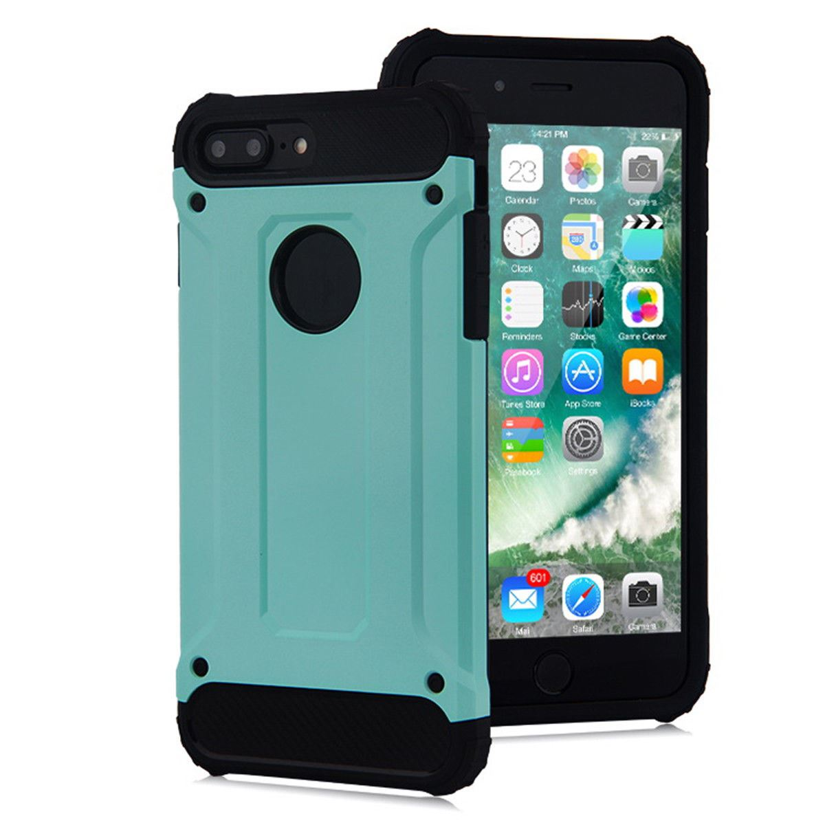 Hybrid-Armor-Shockproof-Rugged-Bumper-Case-For-Apple-iPhone-10-X-8-7-Plus-6s-5s miniature 73
