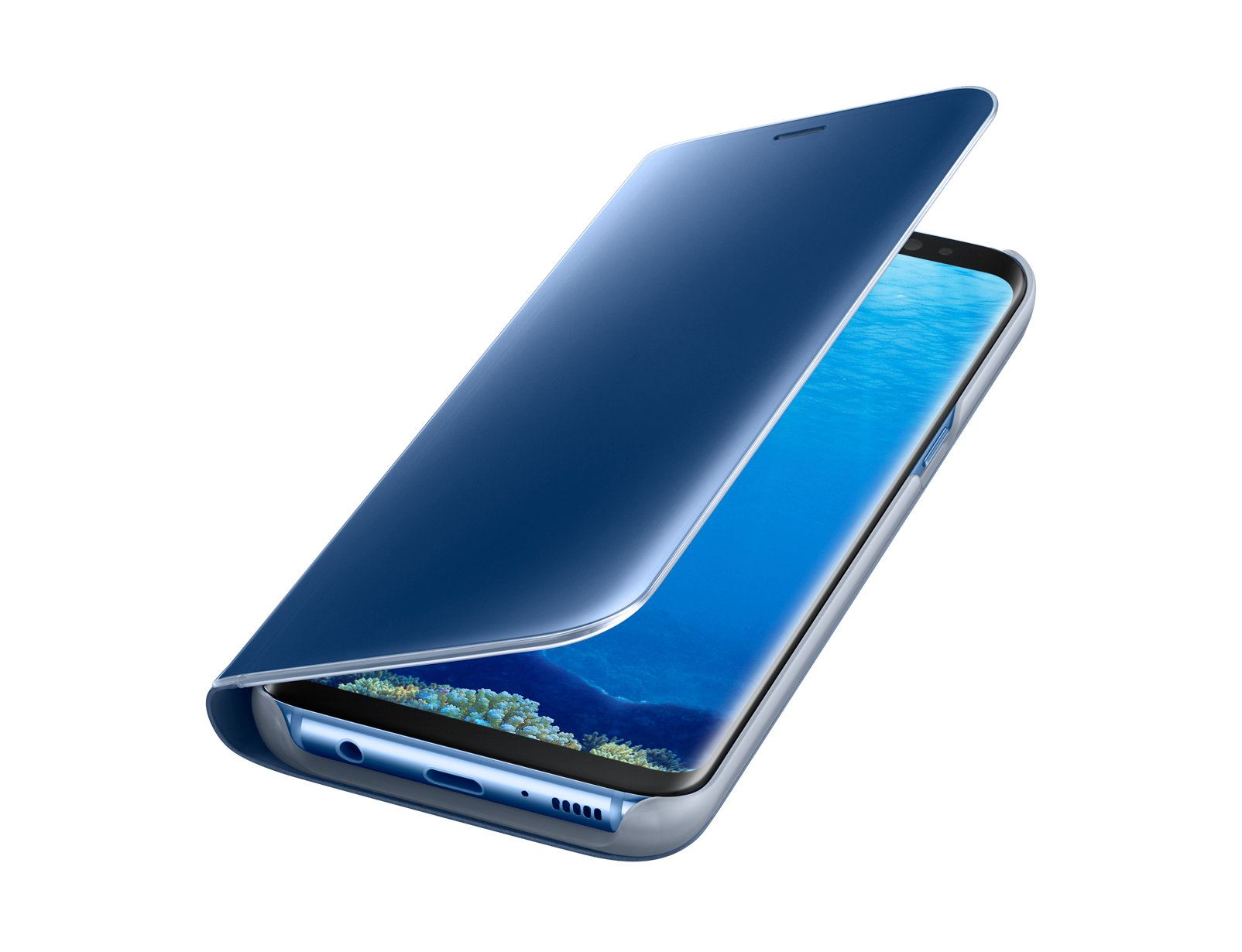 New-Samsung-Galaxy-S8-S9-S10-Smart-View-Mirror-Leather-Flip-Stand-Case-Cover thumbnail 35