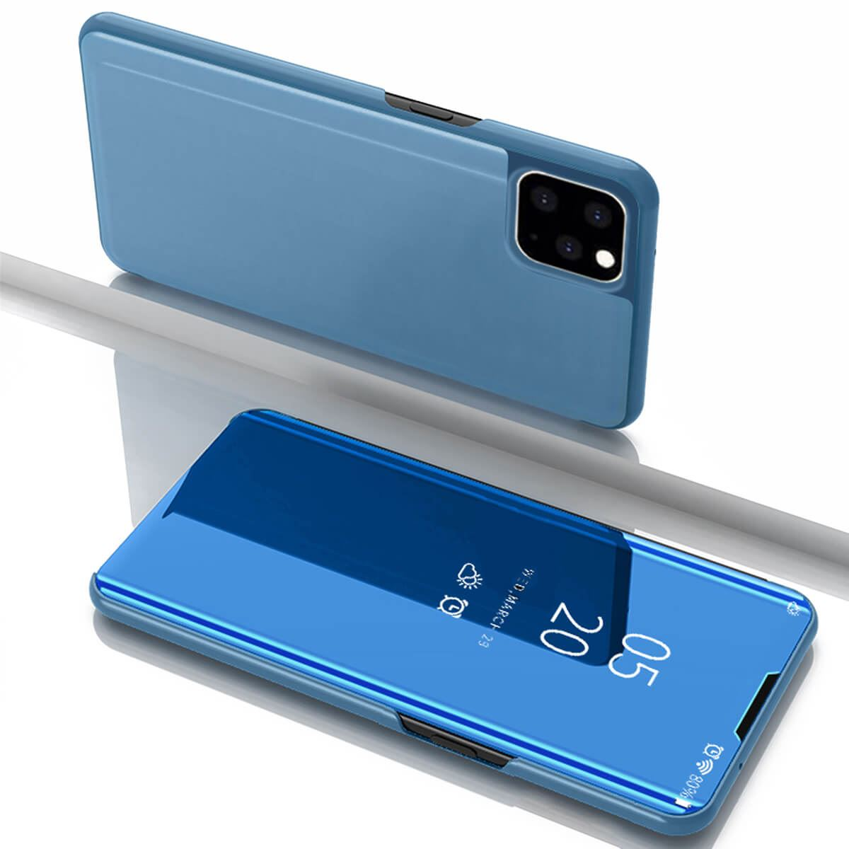 Apple-iPhone-6-6s-7-8-X-Plus-Smart-View-Mirror-Leather-Flip-Stand-Case-Cover thumbnail 10