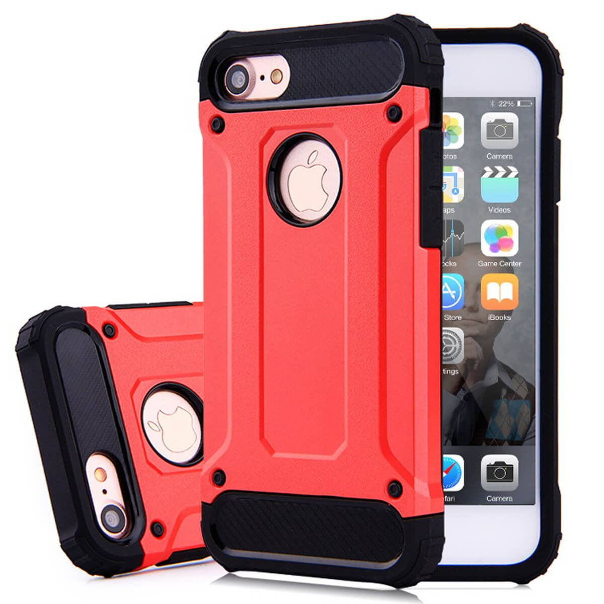 Shockproof-Bumper-Case-For-Apple-iPhone-10-X-8-7-Plus-6s-5s-Hybrid-Armor-Rugged thumbnail 19