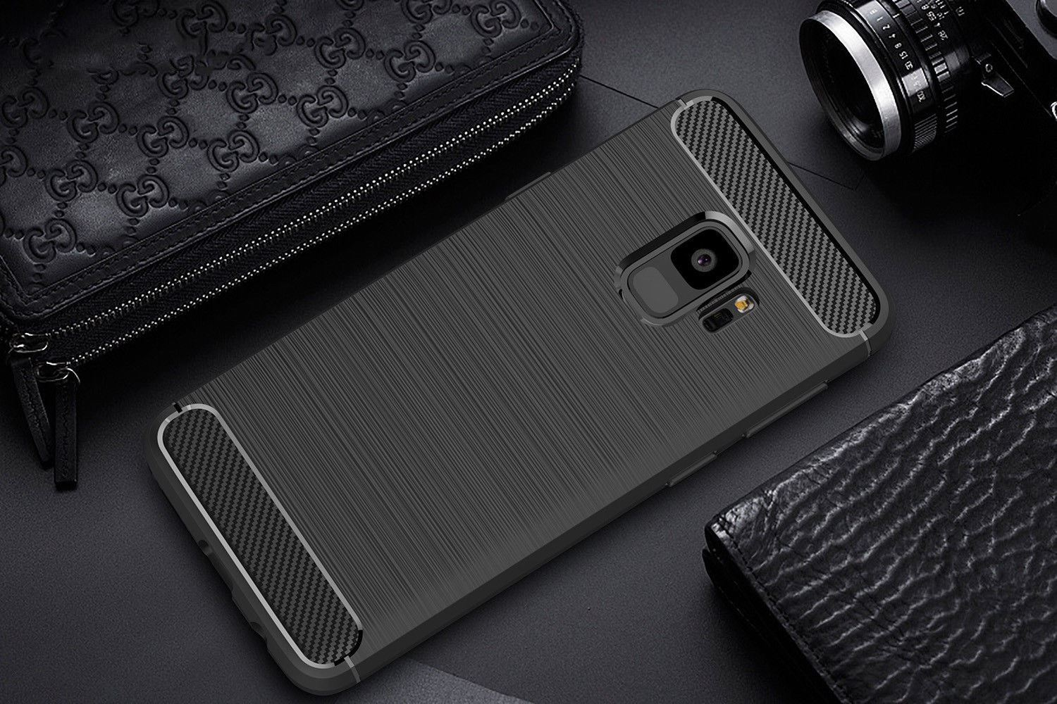 Antichoc-Luxury-TPU-Rugged-en-carbone-CASE-COVER-FOR-SAMSUNG-GALAXY-s9-amp-s9-plus miniature 41