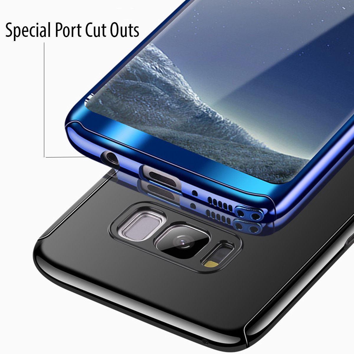 Shockproof-Hybrid-360-Ultra-Thin-Mirror-Hard-Case-Samsung-Galaxy-S7-edge-S8-S9 thumbnail 67