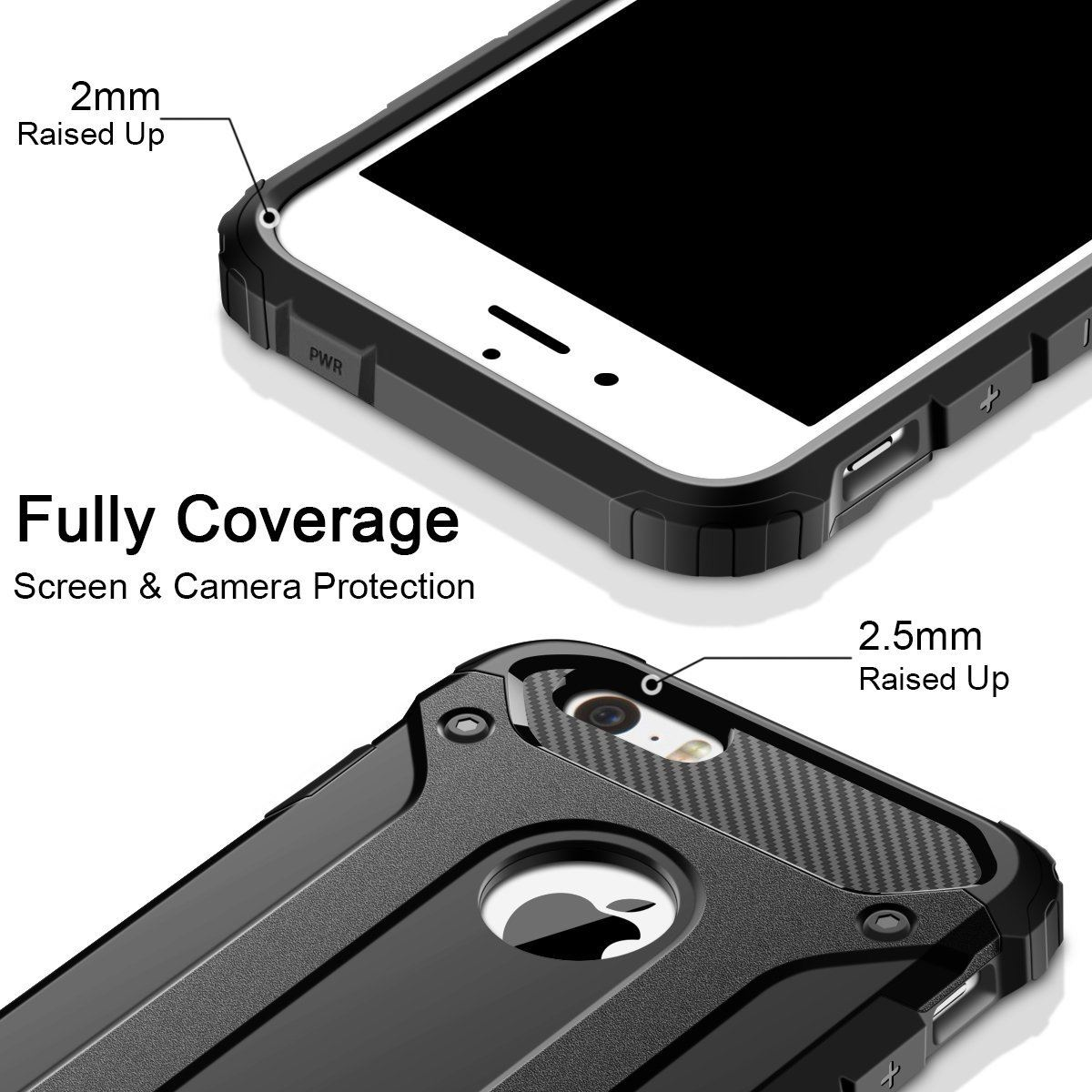 Hybrid-Armor-Shockproof-Rugged-Bumper-Case-For-Apple-iPhone-10-X-8-7-Plus-6s-5s miniature 44