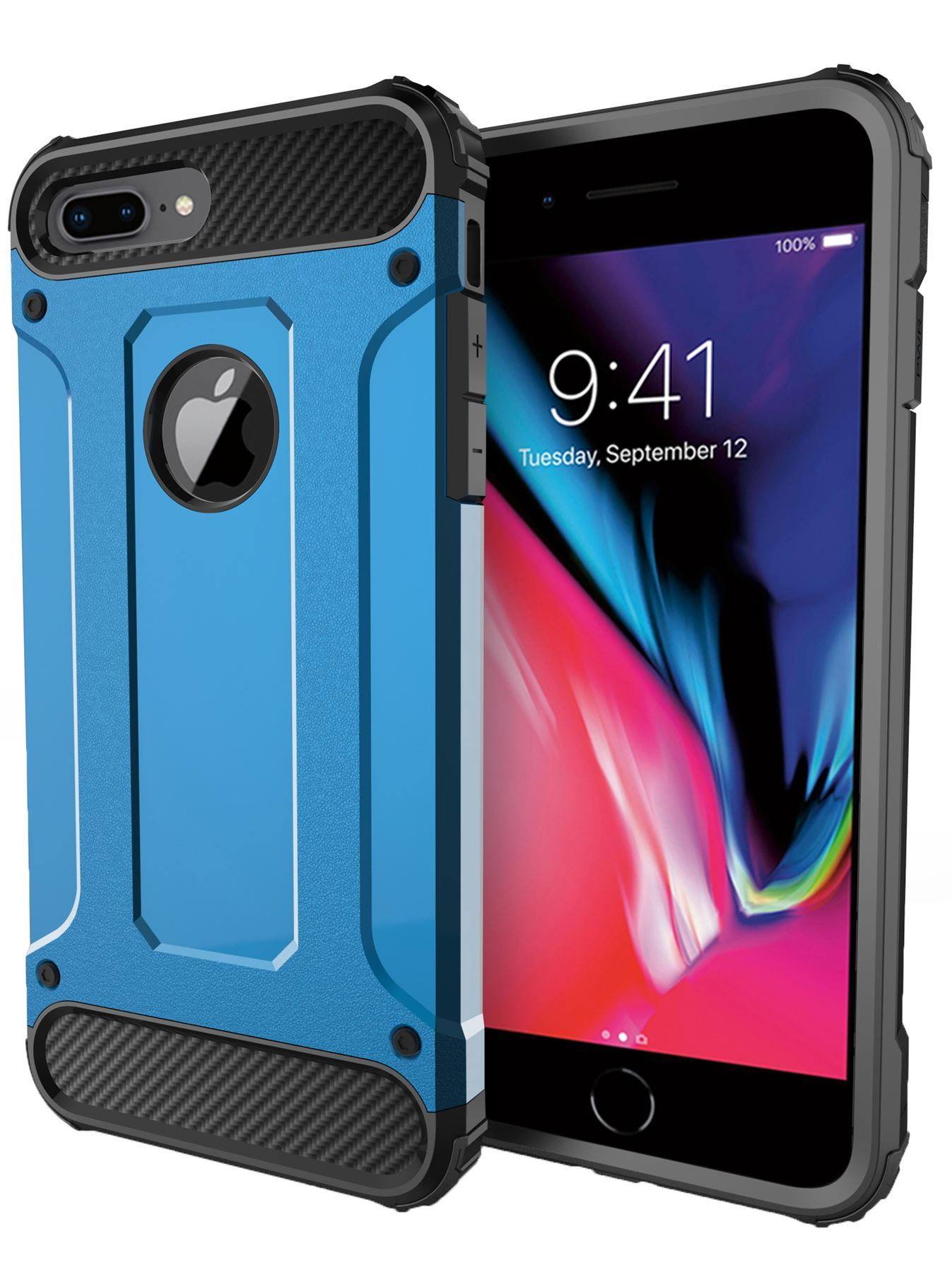 Hybrid-Armor-Shockproof-Rugged-Bumper-Case-For-Apple-iPhone-10-X-8-7-Plus-6s-5s miniature 79