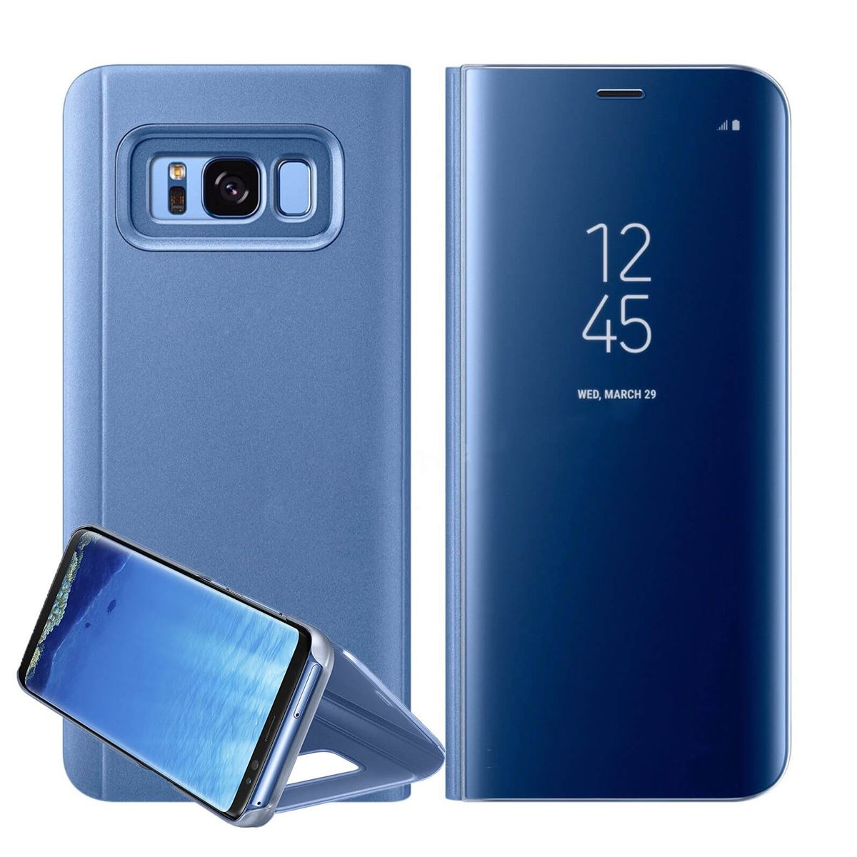 New-Samsung-Galaxy-S10-S9-S8-Smart-View-Mirror-Leather-Flip-Stand-Case-Cover thumbnail 48
