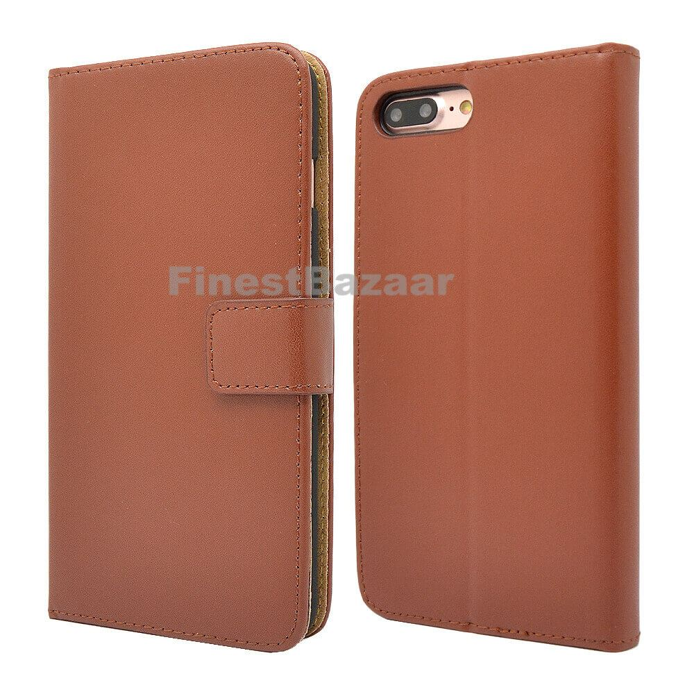 Genuine-Leather-Magnetic-Flip-Wallet-Case-Cover-For-Apple-iPhone-8-7-Plus-6S-5S thumbnail 32
