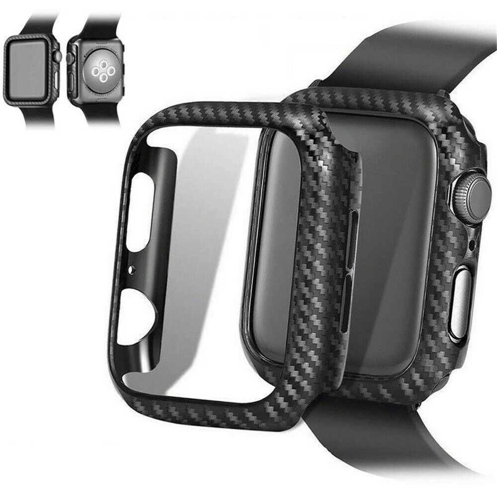 Protective-Carbon-Case-For-Apple-Watch-Black thumbnail 20