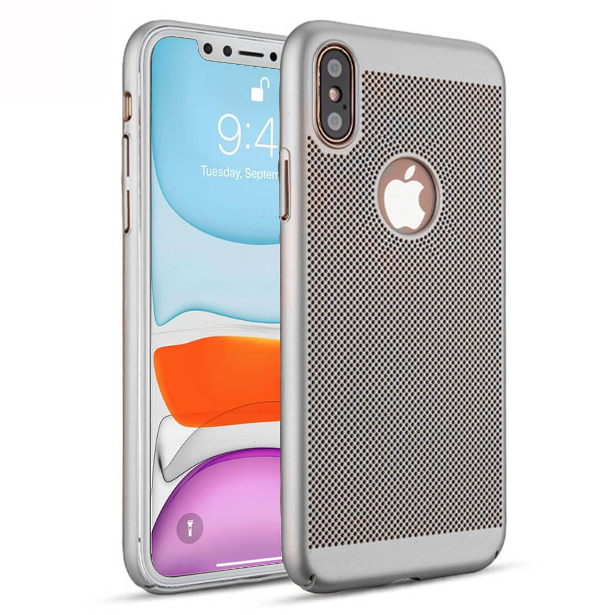 Ultra-Thin-Case-Apple-iPhone-10-X-8-7-6s-5s-Luxury-Slim-PC-Mesh-Hard-Back-Cover thumbnail 21