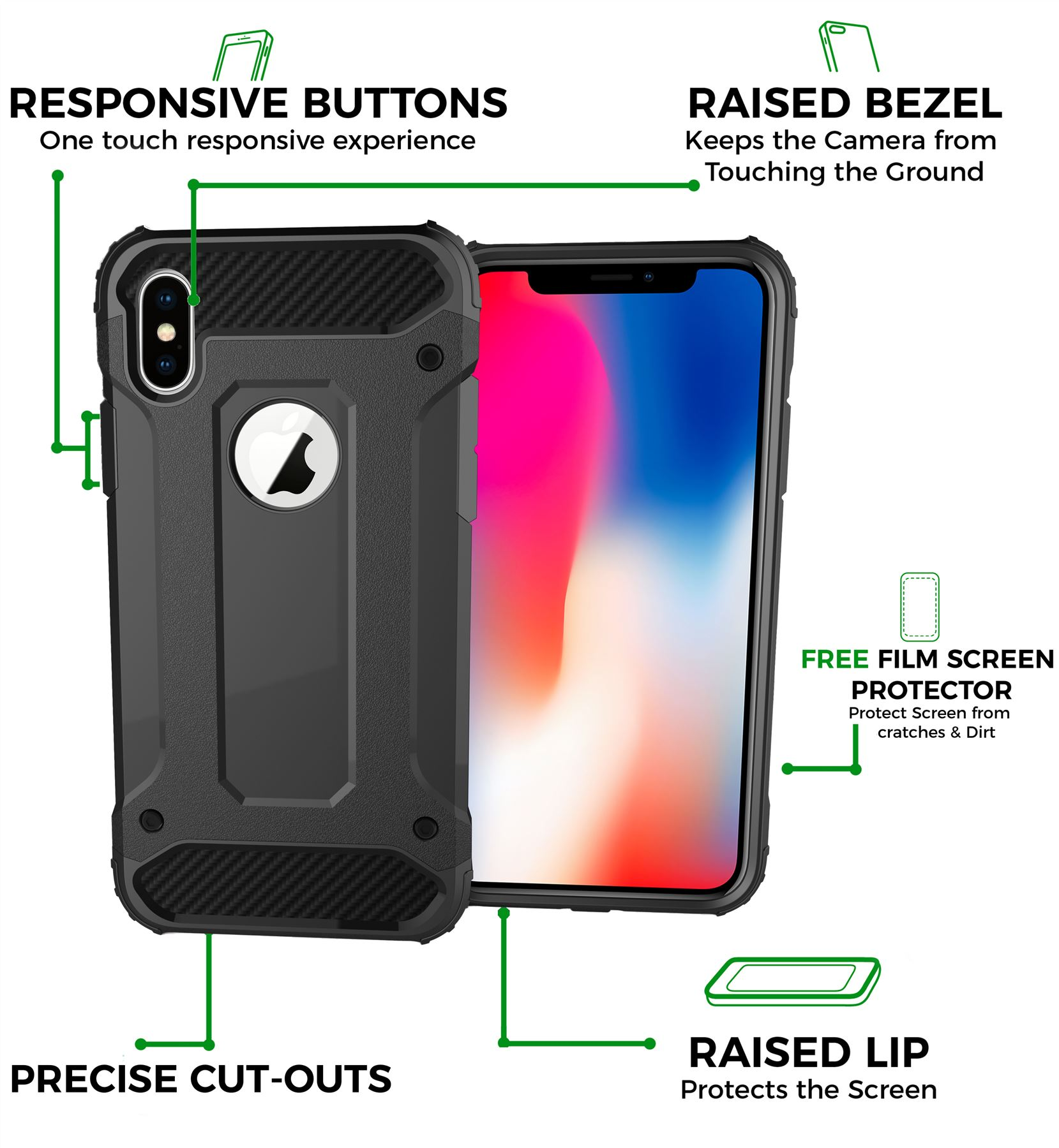 thumbnail 18 - For Apple iPhone 11 Pro Max XR Xs X 8 7 Plus 6 5 Se Case Cover Tough Armor