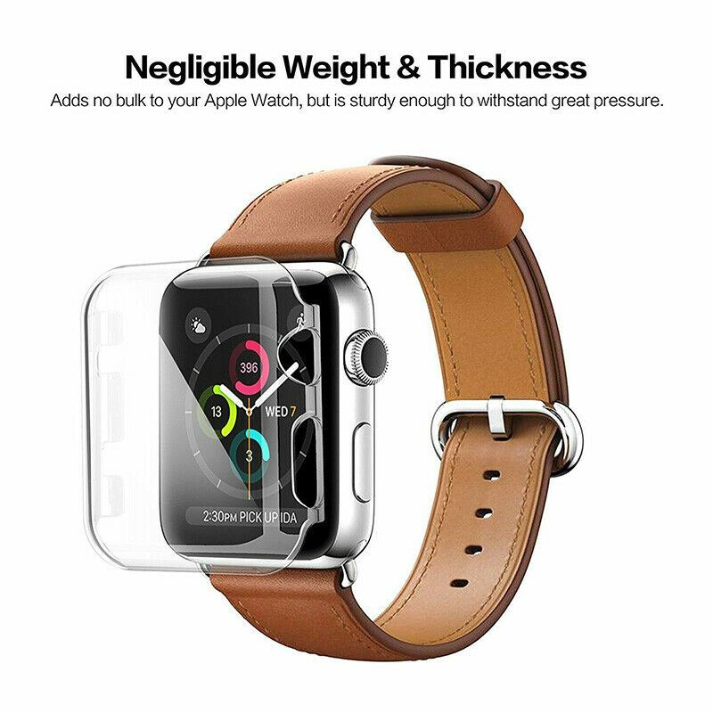 TPU-Gel-Case-For-Apple-Watch-Responsive-Touch-Full-Screen-Curved-Edge-Protective thumbnail 15
