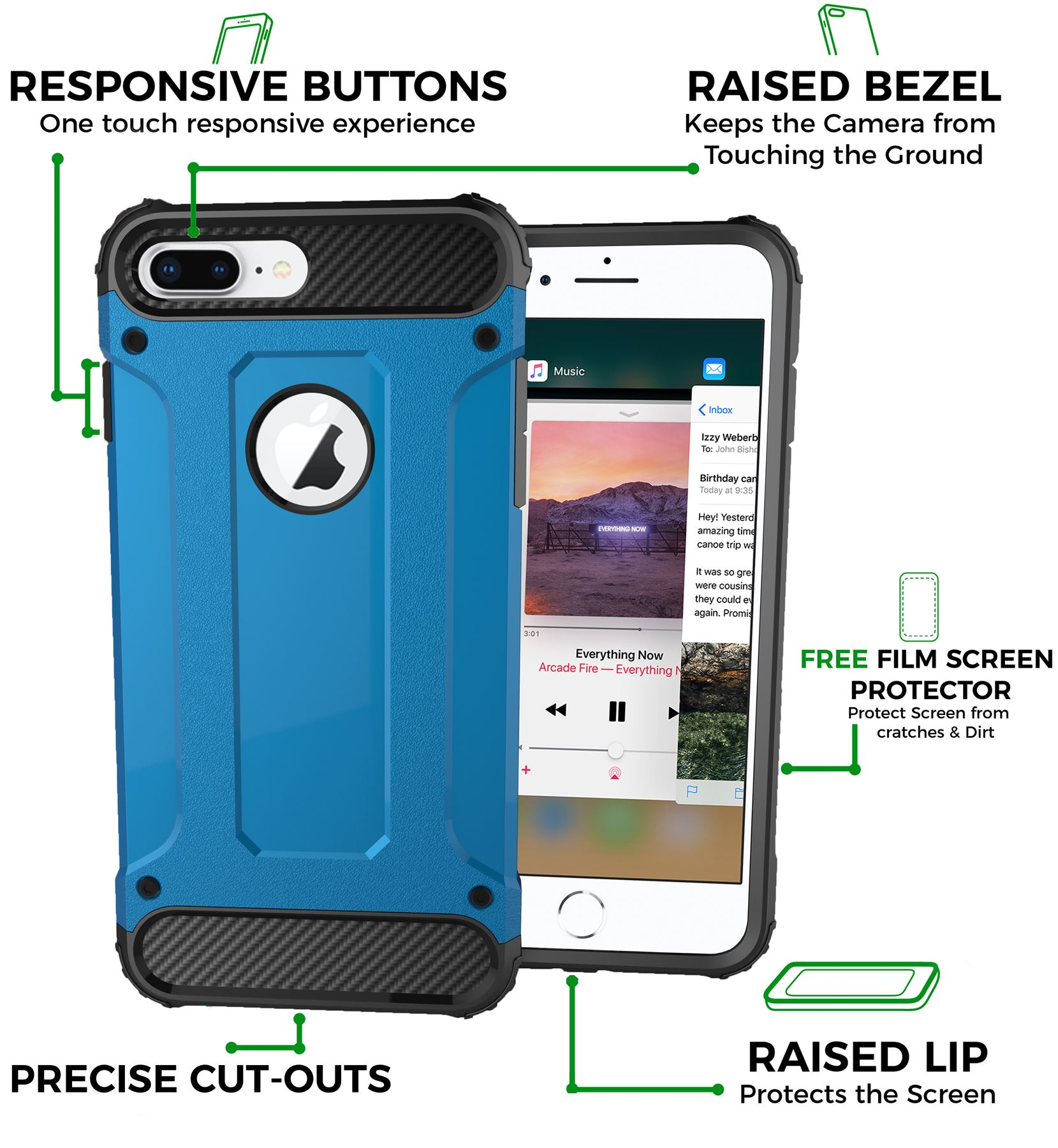 Hybrid-Armor-Shockproof-Rugged-Bumper-Case-For-Apple-iPhone-10-X-8-7-Plus-6s-5s miniature 75