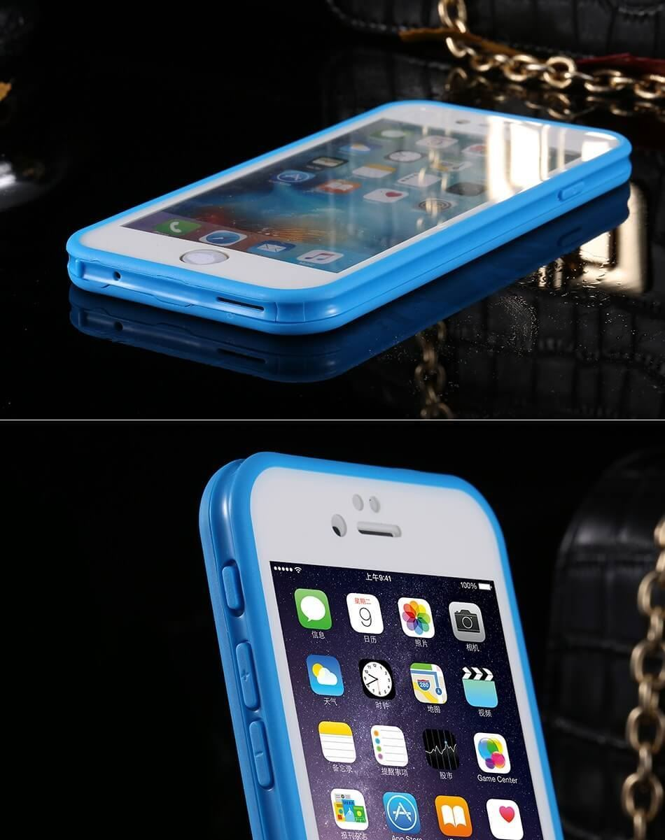 Waterproof-Shockproof-Hybrid-Rubber-TPU-Case-Cover-For-iPhone-10-X-8-7-Plus-6s-5 miniatura 63