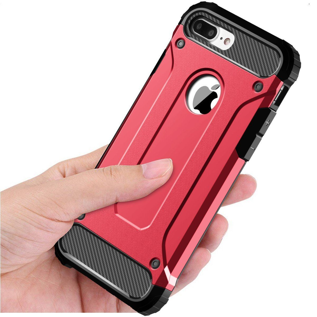 Hybrid-Armor-Shockproof-Rugged-Bumper-Case-For-Apple-iPhone-10-X-8-7-Plus-6s-5s miniature 45