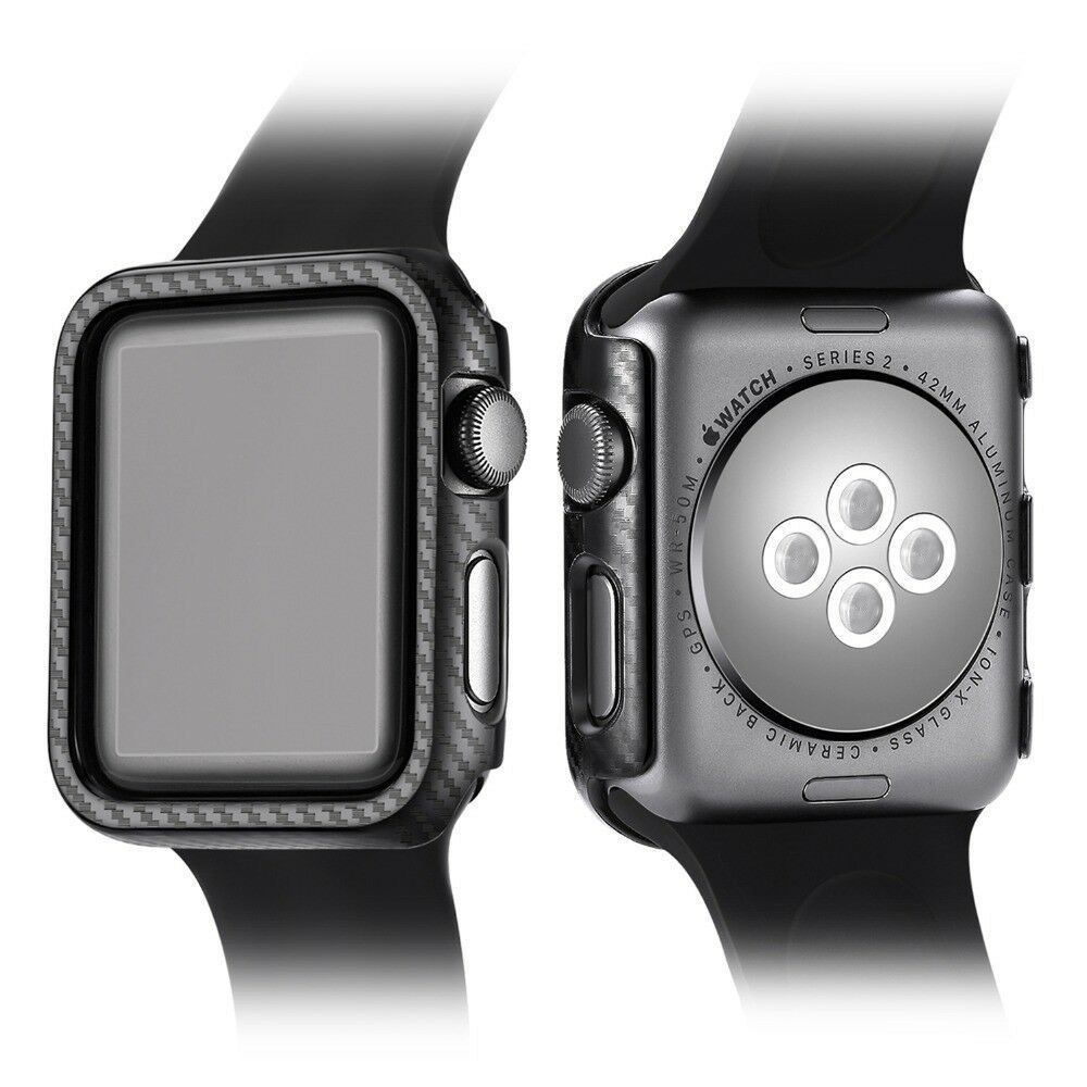 Protective-Carbon-Case-For-Apple-Watch-Black thumbnail 10