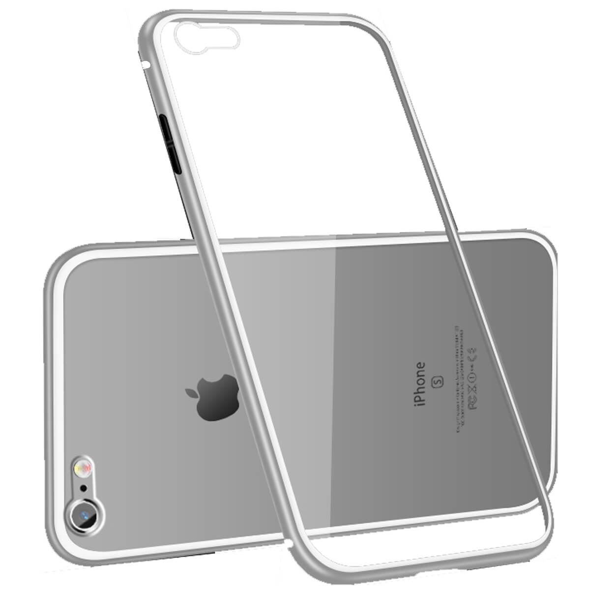 Metal-Magnetic-Adsorption-Case-For-iPhone-X-8-7-6s-6-Luxury-Tempered-Glass-Cover thumbnail 25